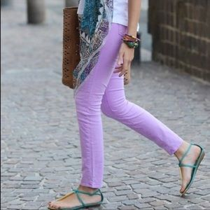 AG Lilac Slim Straight Ankle Jeans, 31